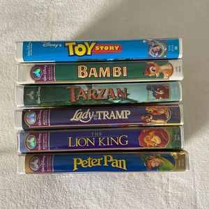 6 Disney VHS Tapes